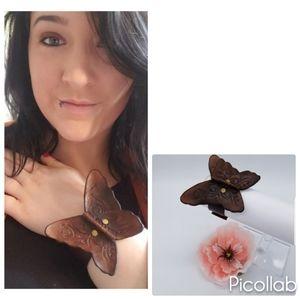 Jewelry - Genuine Leather Boho Butterfly Cuff
